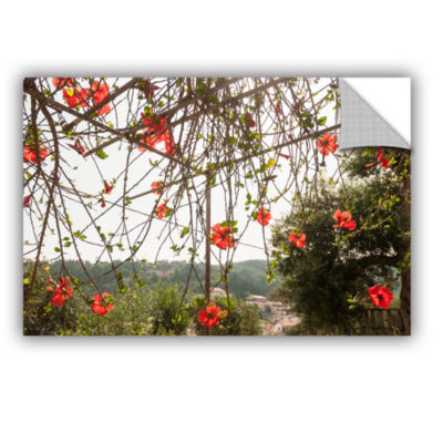 Brushstone Red Hibiscus On Paxos Island; Greece Removable Wall Decal