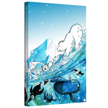 Brushstone Polar 7 Gallery Wrapped Canvas Wall Art