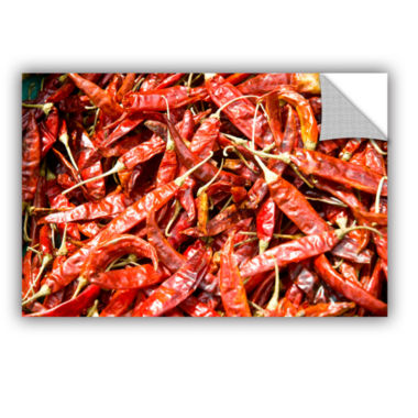 Brushstone Red Peppers In A Bunch Removable Wall Decal