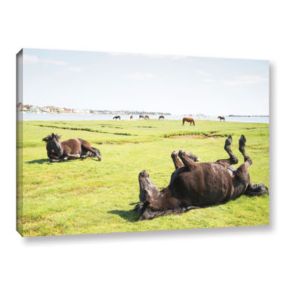 Brushstone Rolling Horses Gallery Wrapped Canvas Wall Art