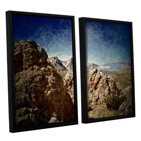 Brushstone Powder 2-pc. Floater Framed Canvas WallArt