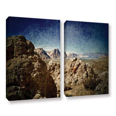 Brushstone Powder 2-pc. Gallery Wrapped Canvas Wall Art