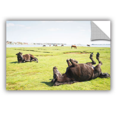 Brushstone Rolling Horses Removable Wall Decal