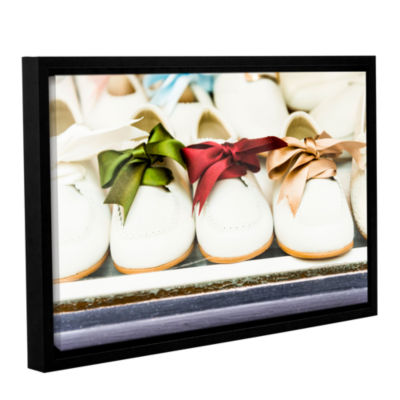 Brushstone Ribbon Tie Gallery Wrapped Floater-Framed Canvas Wall Art