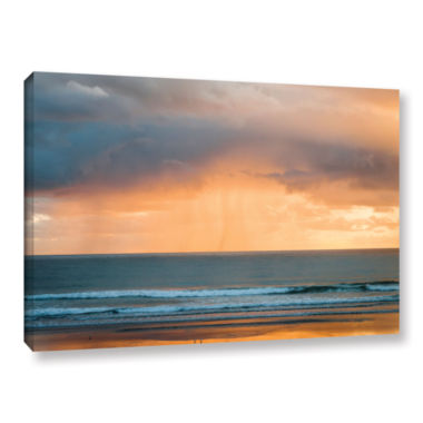 Brushstone Rain At Sunrise Gallery Wrapped CanvasWall Art