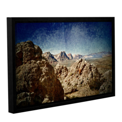 Brushstone Powder Gallery Wrapped Floater-Framed Canvas Wall Art