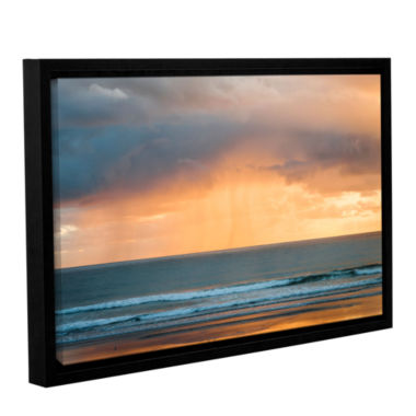 Brushstone Rain At Sunrise Gallery Wrapped Floater-Framed Canvas Wall Art
