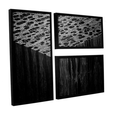 Brushstone Precipice 3-pc. Flag Floater Framed Canvas Wall Art