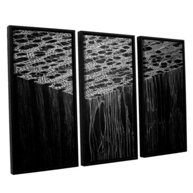 Brushstone Precipice 3-pc. Floater Framed Canvas Wall Art