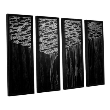 Brushstone Precipice 4-pc. Floater Framed Canvas Wall Art