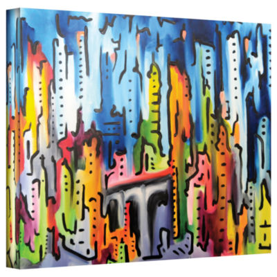 Brushstone Raging City Gallery Wrapped Canvas WallArt