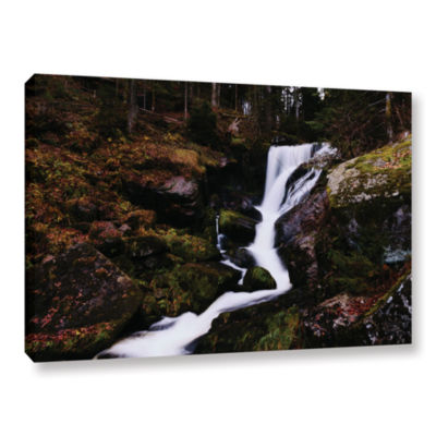 Brushstone River Flow Gallery Wrapped Canvas WallArt
