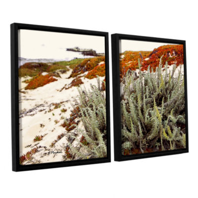 Brushstone Red Ice On Beach III 2-pc. Floater Framed Canvas Wall Art
