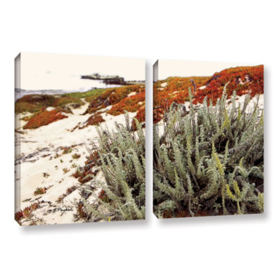 Brushstone Red Ice On Beach III 2-pc. Gallery Wrapped Canvas Wall Art