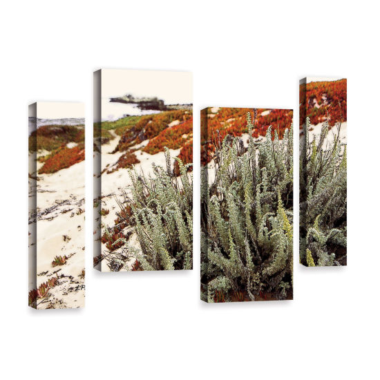 Brushstone Red Ice On Beach III 4-pc. Gallery Wrapped Staggered Canvas Wall Art