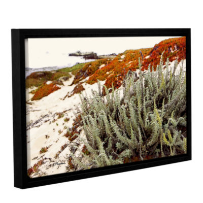 Brushstone Red Ice On Beach III Gallery Wrapped Floater-Framed Canvas Wall Art