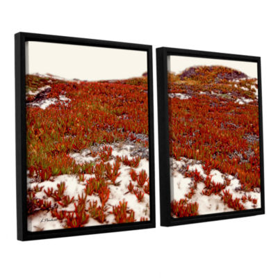 Brushstone Red Ice On Beach I 2-pc. Floater FramedCanvas Wall Art