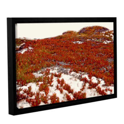 Brushstone Red Ice On Beach I Gallery Wrapped Floater-Framed Canvas Wall Art