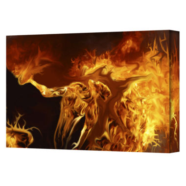 Brushstone Pyro Gallery Wrapped Canvas Wall Art