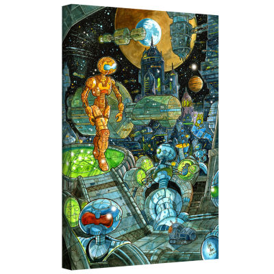 Brushstone Robots Gallery Wrapped Canvas Wall Art