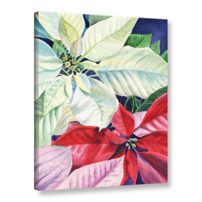 Brushstone Poinsettia 2 Gallery Wrapped Canvas Wall Art