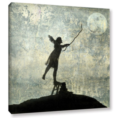 Brushstone Reach For The Moon Gallery Wrapped Canvas Wall Art