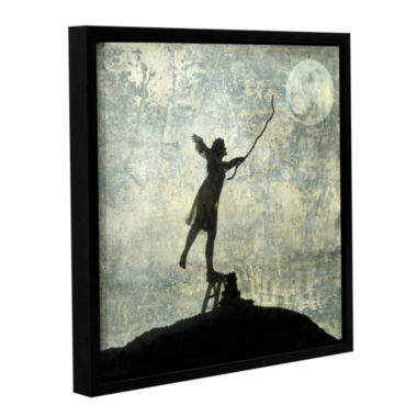Brushstone Reach For The Moon Gallery Wrapped Floater-Framed Canvas Wall Art
