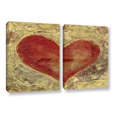 Brushstone Red Heart Of Gold 2-pc. Gallery WrappedCanvas Wall Art