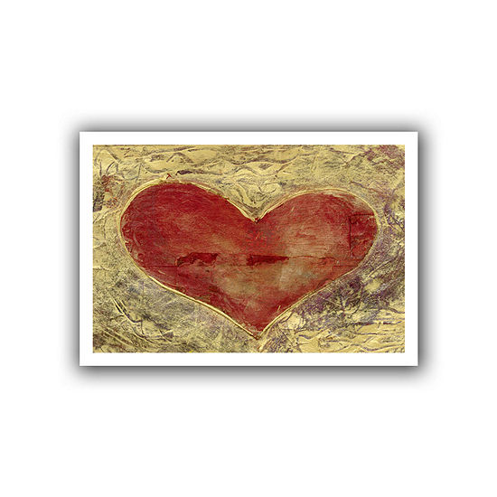 Brushstone Red Heart Of Gold Canvas Wall Art