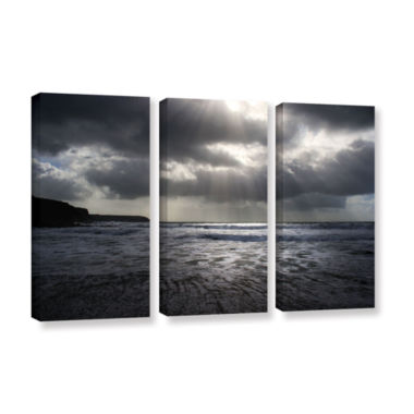 Brushstone Poldhu 3-pc. Gallery Wrapped Canvas Wall Art