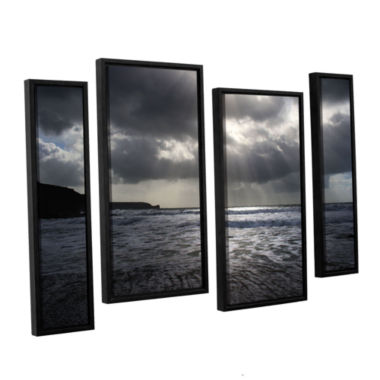 Brushstone Poldhu 4-pc. Floater Framed Staggered Canvas Wall Art