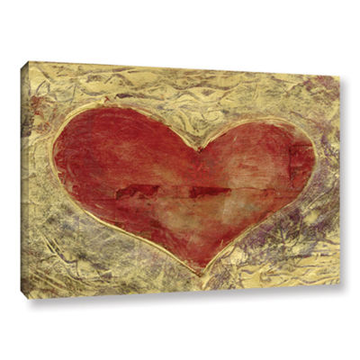 Brushstone Red Heart Of Gold Gallery Wrapped Canvas Wall Art