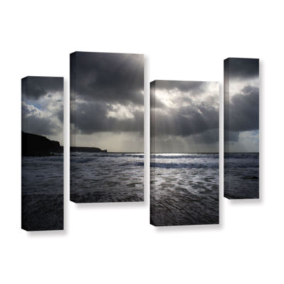 Brushstone Poldhu 4-pc. Gallery Wrapped StaggeredCanvas Wall Art