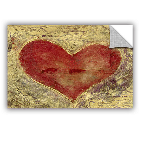 Brushstone Red Heart Of Gold Removable Wall Decal
