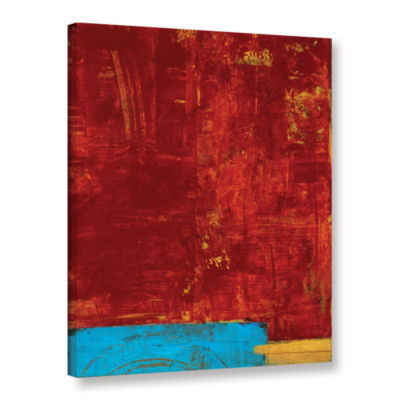 Brushstone Red Abstract Gallery Wrapped Canvas Wall Art