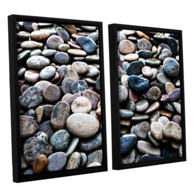 Brushstone River Stones 2-pc. Floater Framed Canvas Wall Art