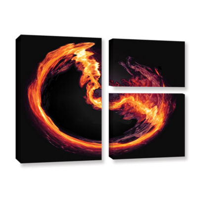 Brushstone Purify 3-pc. Flag Gallery Wrapped Canvas Wall Art