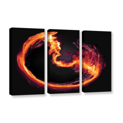 Brushstone Purify 3-pc. Gallery Wrapped Canvas Wall Art