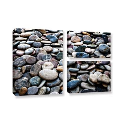 Brushstone River Stones 3-pc. Flag Gallery WrappedCanvas Wall Art
