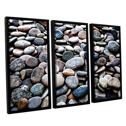 Brushstone River Stones 3-pc. Floater Framed Canvas Wall Art