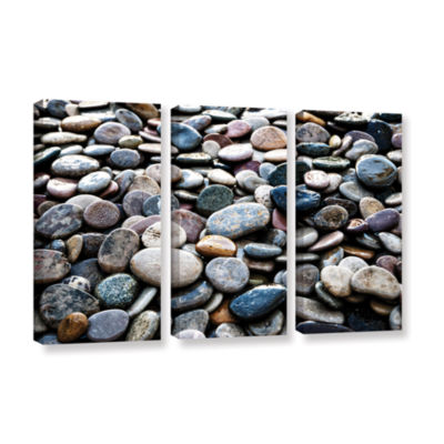 Brushstone River Stones 3-pc. Gallery Wrapped Canvas Wall Art