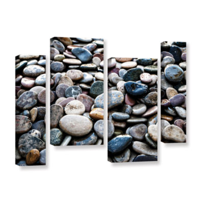 Brushstone River Stones 4-pc. Gallery Wrapped Staggered Canvas Wall Art