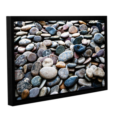 Brushstone River Stones Gallery Wrapped Floater-Framed Canvas Wall Art