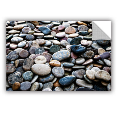 Brushstone River Stones Removable Wall Decal