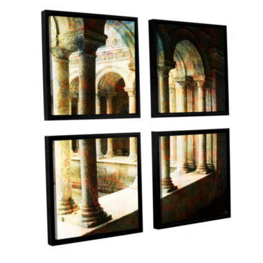 Brushstone Roman Architecture 4-pc. Square FloaterFramed Canvas Wall Art