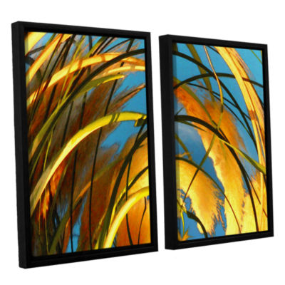 Brushstone Polar Pampas 2-pc. Floater Framed Canvas Wall Art