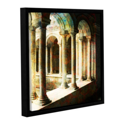 Brushstone Roman Architecture Gallery Wrapped Floater-Framed Canvas Wall Art
