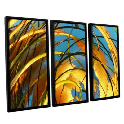 Brushstone Polar Pampas 3-pc. Floater Framed Canvas Wall Art