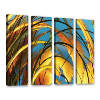 Brushstone Polar Pampas 4-pc. Gallery Wrapped Canvas Wall Art