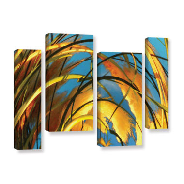 Brushstone Polar Pampas 4-pc. Gallery Wrapped Staggered Canvas Wall Art